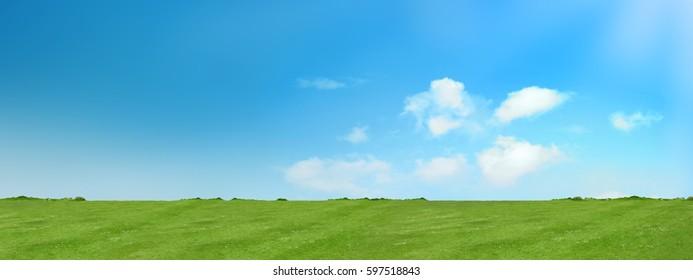 meadow and sky panorama