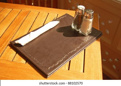 meal items at an outdoor table