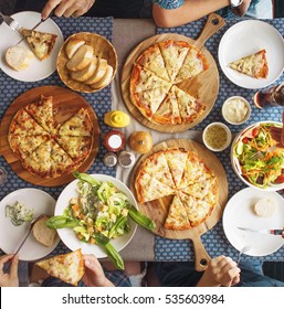 Meal Pizza Party Restaurant Salad Concept