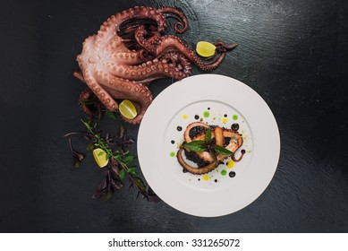 meal in the restaurant of the octopus