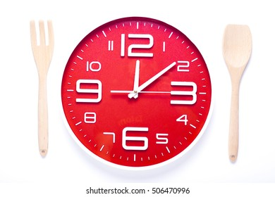 Meal time with alarm clock, lunch time