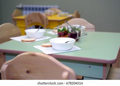Meal time in kindergarten