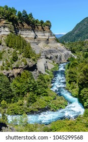Meander of Truful-Truful river, Chile