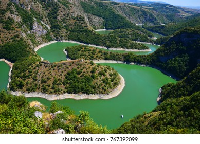 meander  of Uvac river beautiful sight seeing  Serbia Europe