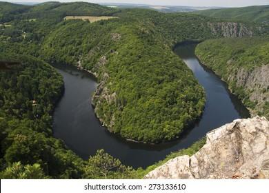 Meander Vltava River