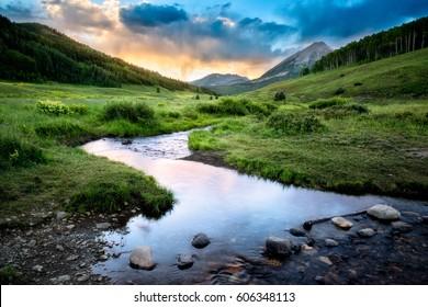 Meandering Stream near Crested Butte Colorado