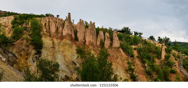 """Đavolja varoš (meaning """"Devil's Town"""") is a peculiar rock formation of 202 exotic formations described as earth pyramids or """"towers"""", located in south Serbia on the Radan Mountain"""