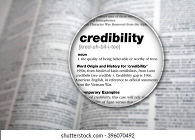The meaning of the word 'Credibility'.
