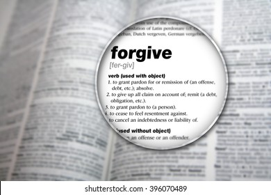 The meaning of the word 'Forgive'.