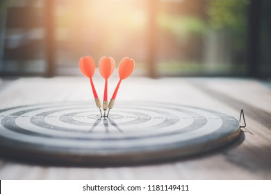 Meaningful target of business. Dart is an opportunity and Dartboard is the target and goal. business marketing as concept.
