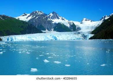 Meares Glacier, Prince William Sound, Alaska, America
