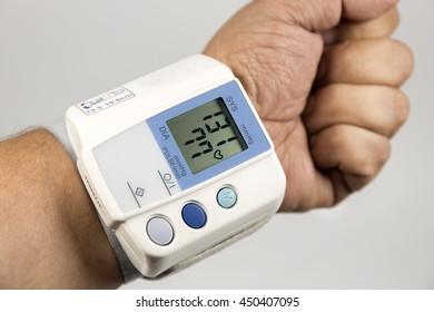 to measure blood pressure.