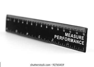 Measure performance on black ruler