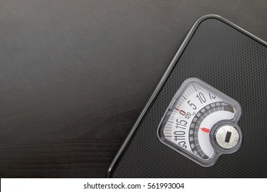 Measure scale for check your weight with white background.