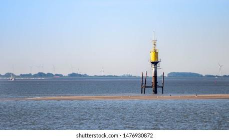 measure station island ebb flood, norderney germany