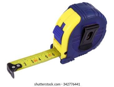 Measure tape. Home measure tape. Tape meter.