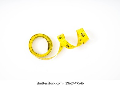 measure tape isolated over white background