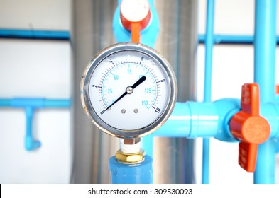 Measure water pressure ,This picture in a natural light and low light conditions