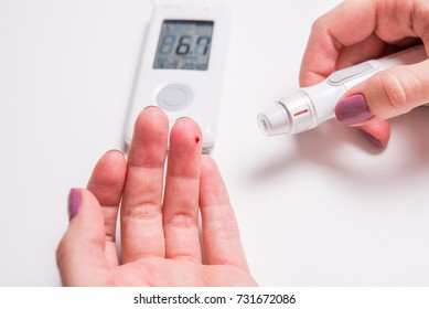 Measurement of glucose level at home , diagnosis of diabetes