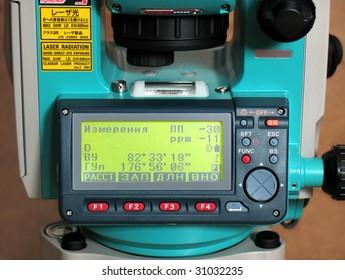Measurement Instrument. The control panel.