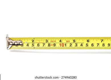 the Measurement ruler on white background