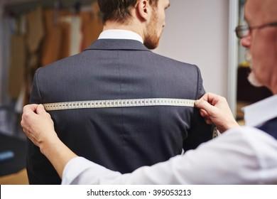 Measuring back of jacket