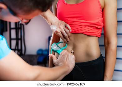 Measuring Belly or Visceral Fat Using Caliper Skinfold Test.