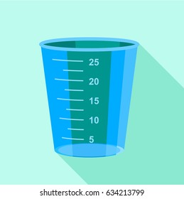 Measuring cup icon. Flat illustration of measuring cup  icon for web
