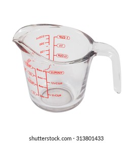 measuring cup isolated on white