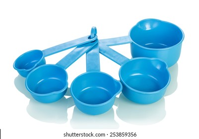 Measuring cups isolated on white background