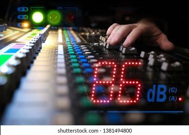 Measuring decibels during a music concert