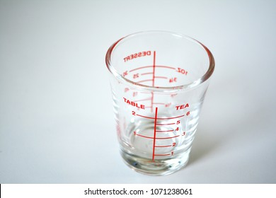 Measuring Small Quantities on white background