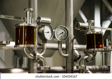 Measuring system of pressure of gases in brewery.