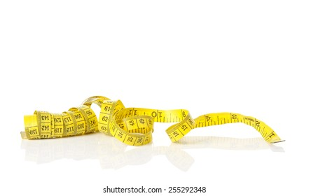 measuring tape isolate on white