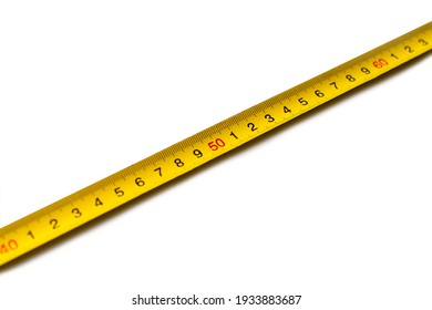 Measuring tape isolated on white background.