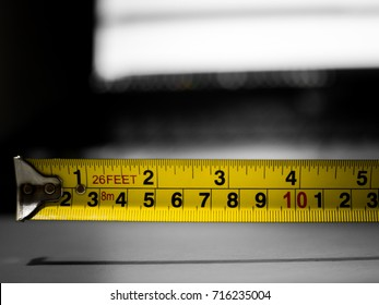 Measuring Tape on Table for Engineering Tools