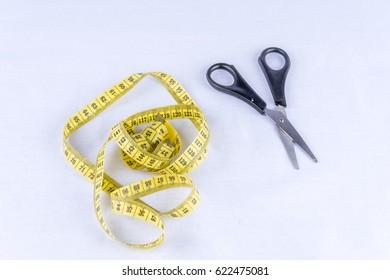 measuring tape, scissors