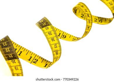 measuring tape. spiral.