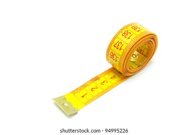 measuring tape of the tailor on white