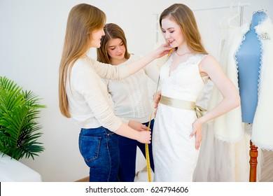 Measuring wedding dress