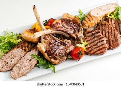meat appetizer on the white plate
