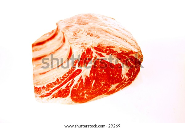 Meat - Beef - Roast - Cuts of Meat - On White Background - Animals