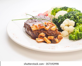 Meat with broccoli