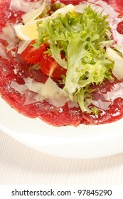 Meat Carpaccio with Parmesan Cheese