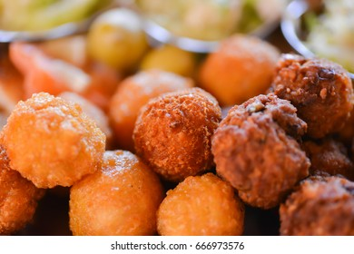 meat and cheese balls