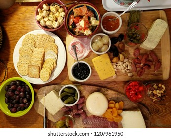 meat and cheese charcuterie assortment
