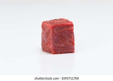 Meat cube isolated