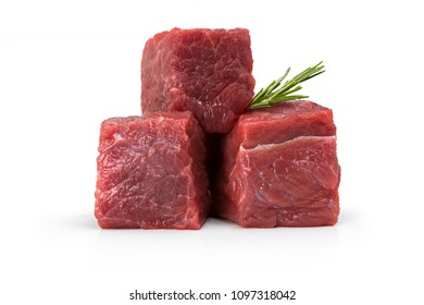 Meat Cubes isolated