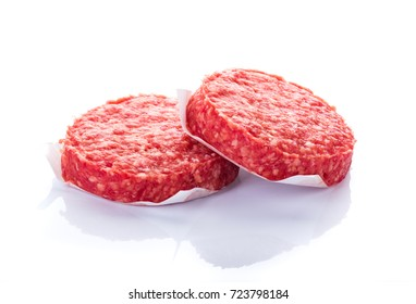 meat for hamburger on white background