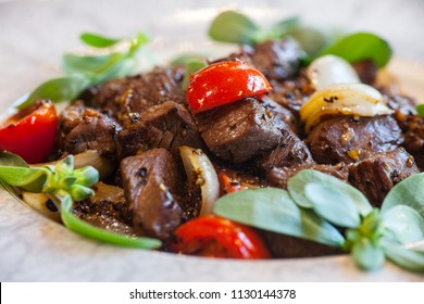Meat plate with vegetables